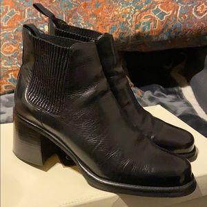 Cole haan black short black boots 8.5